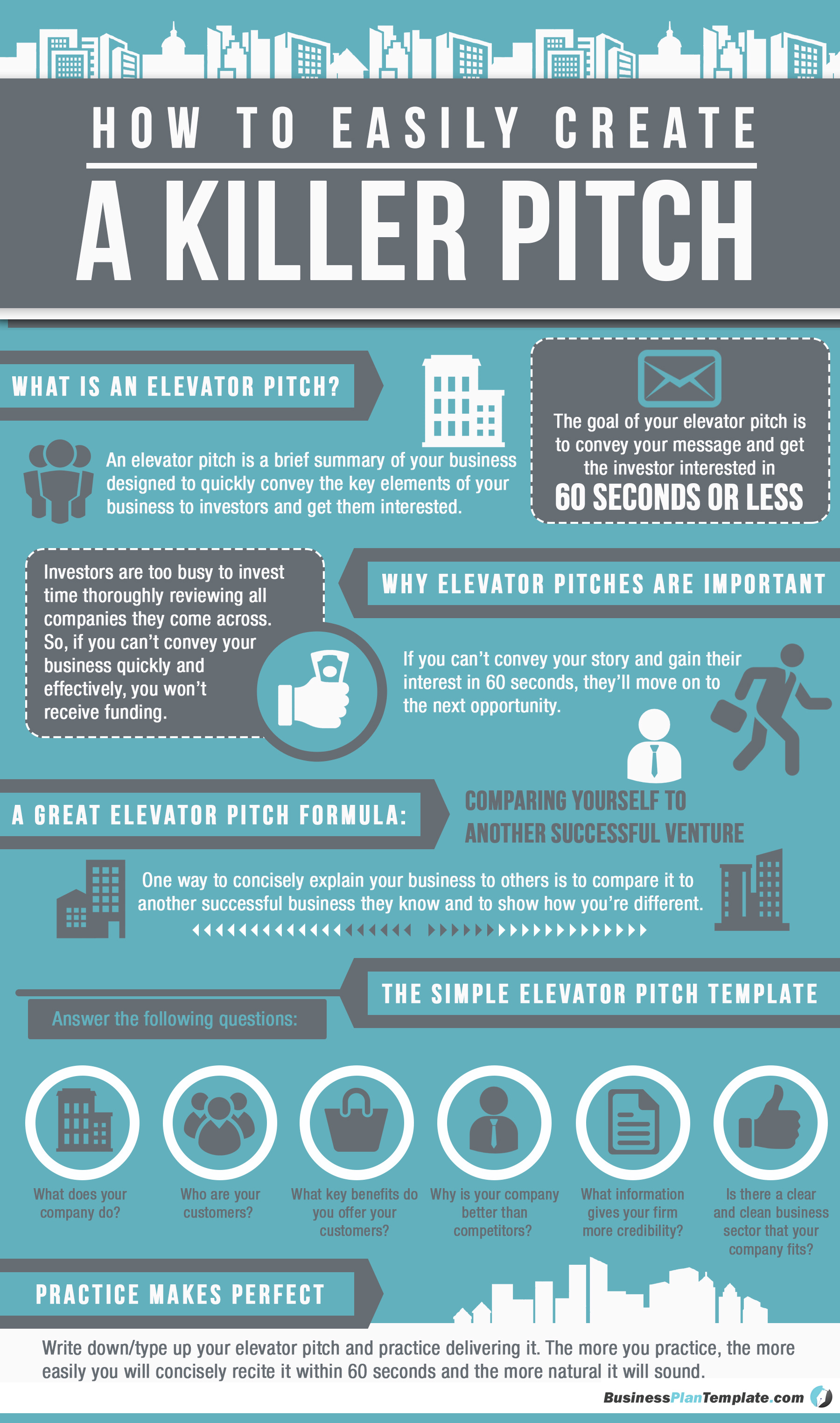Elevator pitch template how to easily create a killer pitch elevator pitch template infographic flashek